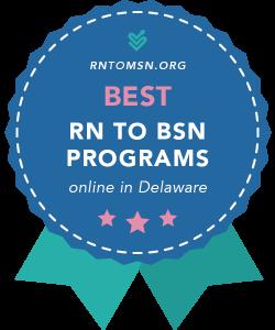 Badge for the Best RN-BSN Programs in Delaware