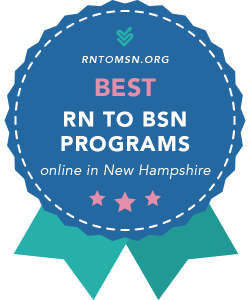 Badge for the Best RN-BSN Programs in New Hampshire