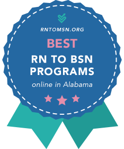 Rankings Award Badge for the Best RN-BSN Programs in Alabama