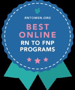Award Badge for Best RN to FNP Program Rankings