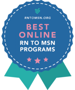 Award badge image for the best RN to MSN programs