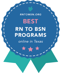 Rankings Award Badge for the Best RN-BSN Programs in Texas