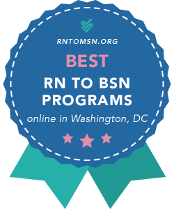 Badge for the Best RN-BSN Programs in Washington, DC