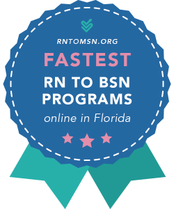 Rankings Award Badge for the Fastest RN-BSN Programs in Florida