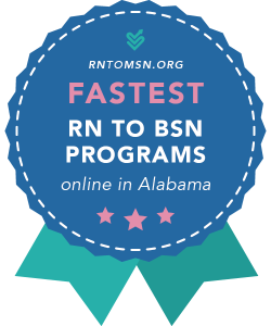 Rankings Award Badge for the Fastest RN-BSN Programs in Alabama