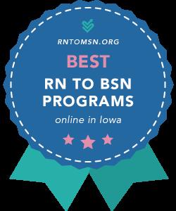 Rankings Award Badge for the Best RN-BSN Programs in Iowa