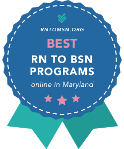 Badge for the Best RN-BSN Programs in Maryland
