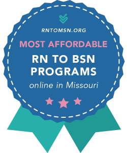 Rankings Award Badge for the Most Affordable RN-BSN Programs in Missouri