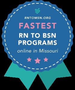Rankings Award Badge for the Fastest RN-BSN Programs in Missouri