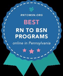 Rankings Award Badge for the Best RN-BSN Programs in Pennsylvania