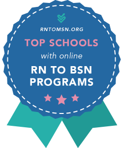 Rankings Badge for the Top Schools with RN to BSN Programs