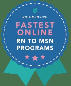 Shortest Online RN to MSN Programs - Rankings Award