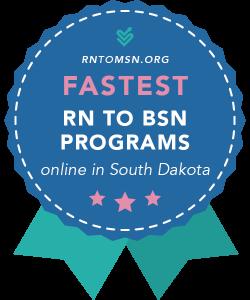 Badge for the Fastest RN-BSN Programs in South Dakota