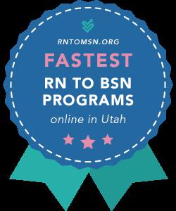 Badge for Fastest RN to BSN Programs in Utah