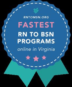 Rankings Award Badge for the Fastest RN-BSN Programs in Virginia
